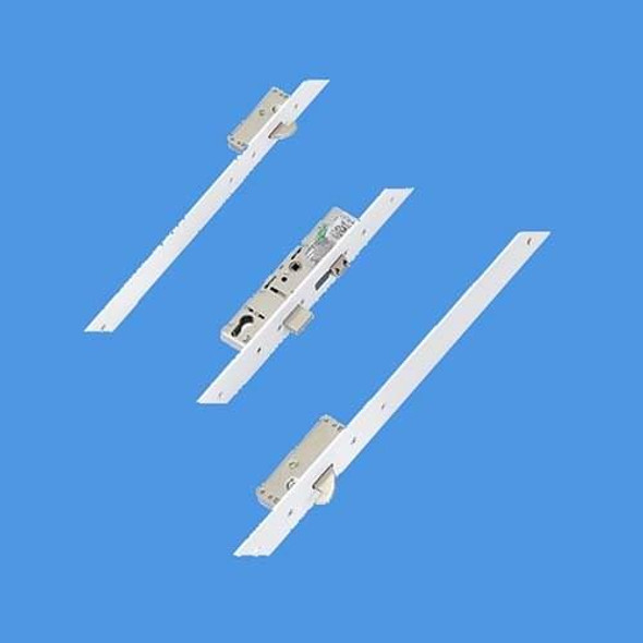 ERA Latch, Deadbolt and 2 Hooks, Flat 44mm white faceplate - 6945301ZA