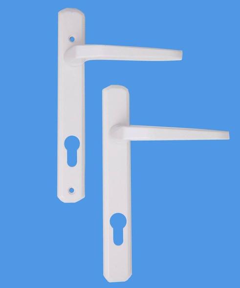 Avocet UPVC Door Handles, 92mm centres, 165mm screws, Lever/Lever in White