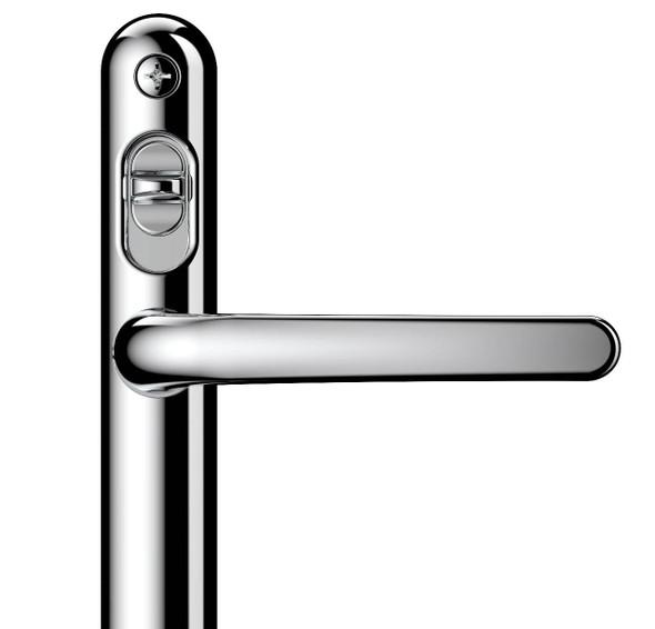 High Security Door Handle - 92mm centre, 122mm screws, Lever/Lever by Lock Lock