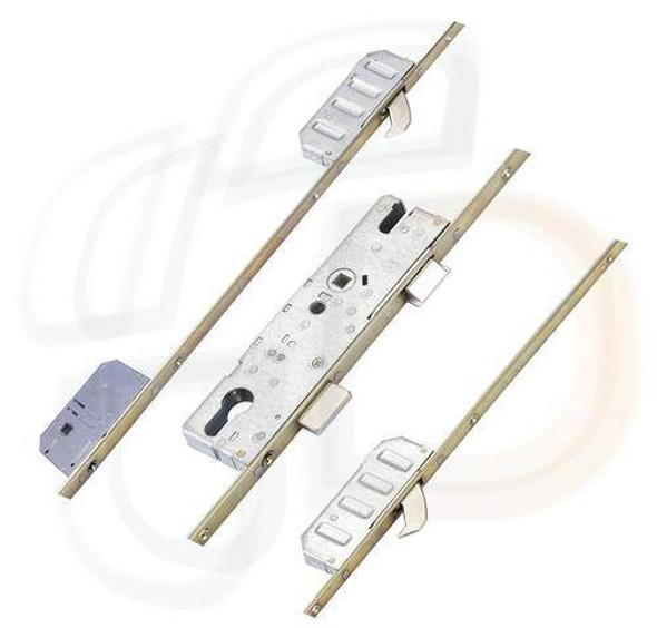 Winkhaus Entryguard Multipoint, 2 Hooks, Entryguard Facility, 55mm Backset, Flat 16mm Faceplate