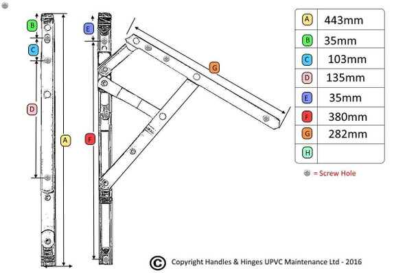 16 Fire Escape and Easy Clean UPVC Window Hinges