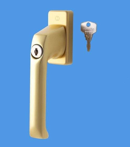 Tilt and Turn Window Handle from Hoppe in Anodised Gold
