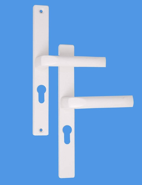 Hoppe 48mm UPVC Door Handles, 48mm centre, 215 screws, Lever/Lever in White