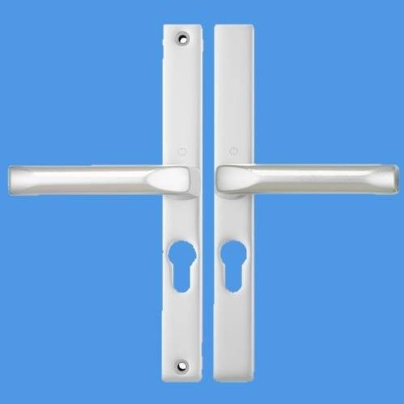 Hoppe 48mm UPVC Door Handles, 48mm centre, 215 screws, Lever/Lever in Anodised Silver