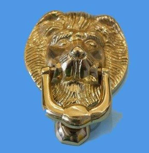 UPVC Replacement Lions Head Door Knocker in GOLD