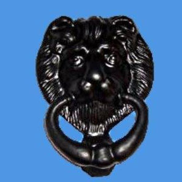 UPVC Replacement Lions Head Door Knocker in BLACK
