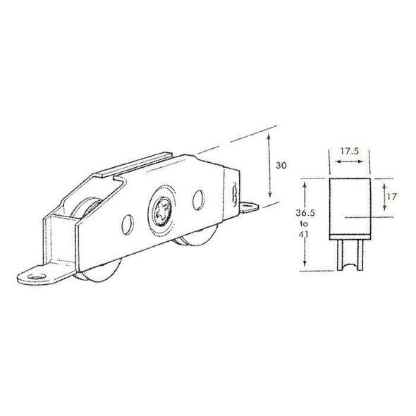 D197 Patio Door Roller Wheels