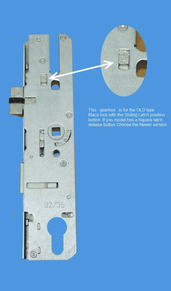 Maco Old Style Door Lock Centre Case / Multipoint Gearbox, 35mm Backset