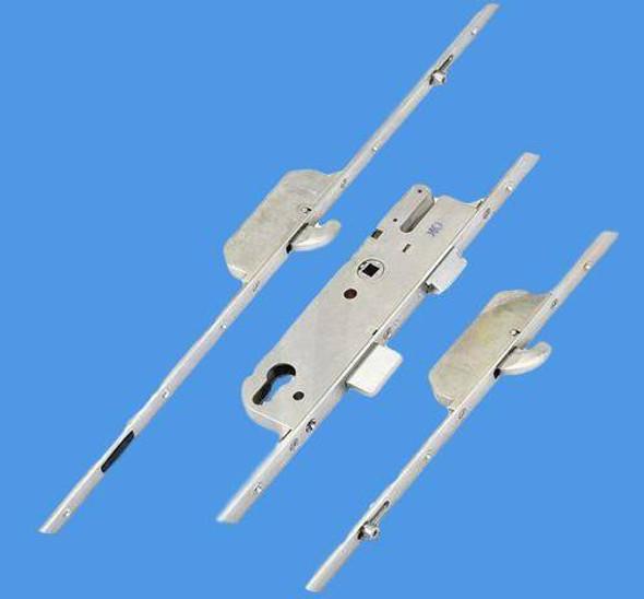 GU Europa Multipoint, 2 Hooks and 2 Outboard Rollers, Lift Lever L/L, Split Spindle, 35mm Backset