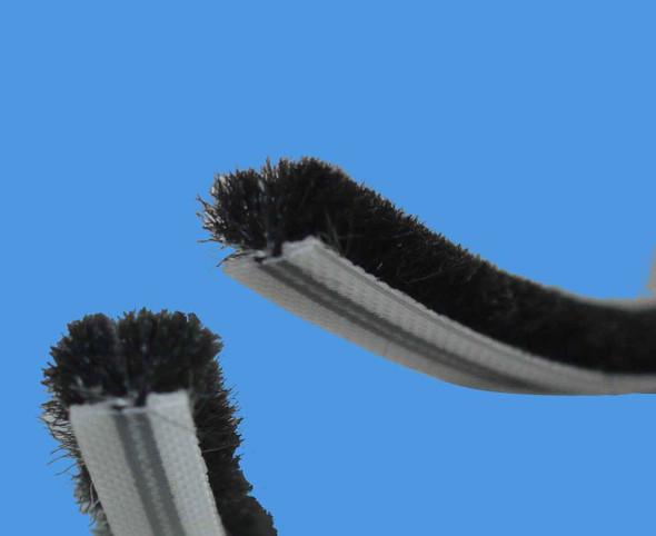 Patio Door Gasket Seal - Brush Pile in Black