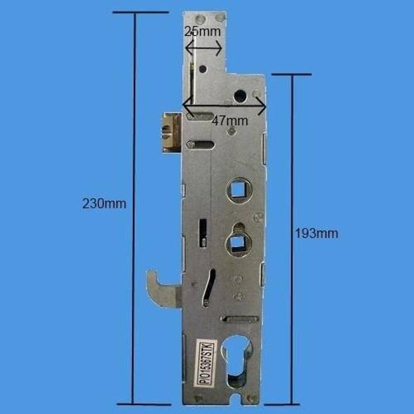 Fullex XL Hookbolt Lockcase, 35mm Backset, 92/62 Dual Spindle