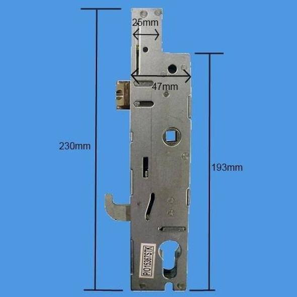 Fullex XL Hookbolt Lockcase, 35mm Backset, Single Spindle