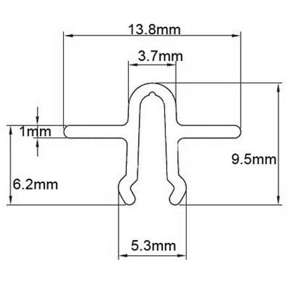 Snap In Patio Door Track - 2.5m