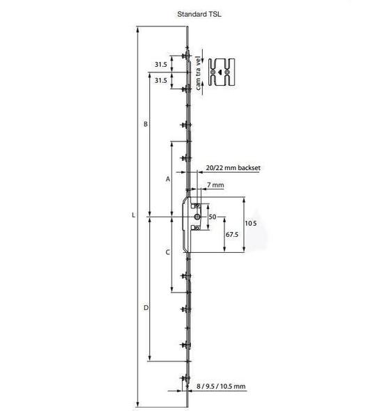 Roto Window Lock - TSL Espag Version