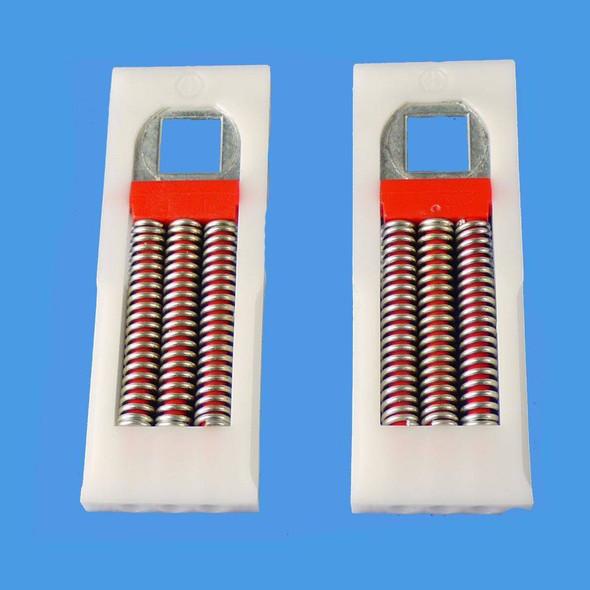 Pair of Replacement Spring Cartridges for UPVC Door Handles