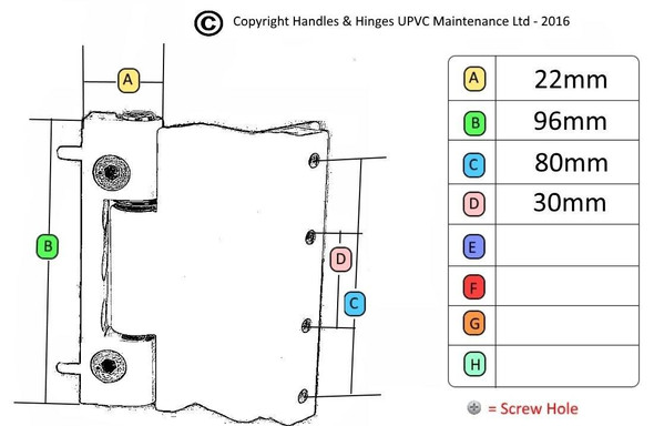 Challenger Rebated Butt Hinge for UPVC Doors