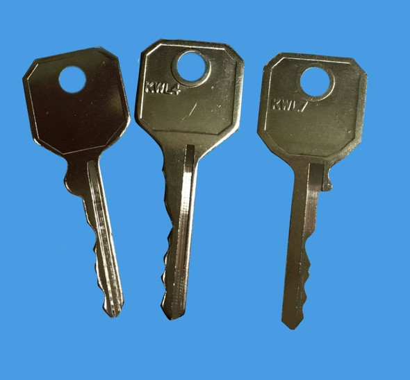 WMS Window Handle Key Pack - 3 to suit the WMS handle, EE51,EE52, EE54