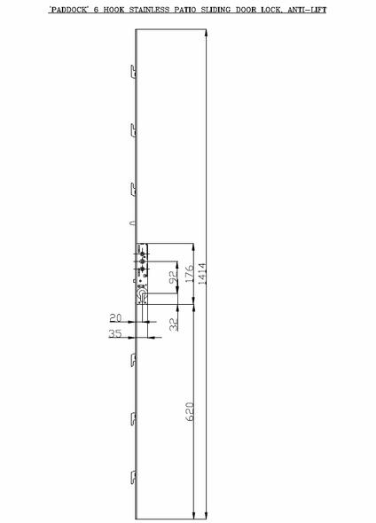 Patio Door Inline Slider Lock Mechanism