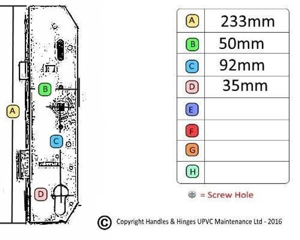 Mila Multipoint Lockcase / Gearbox