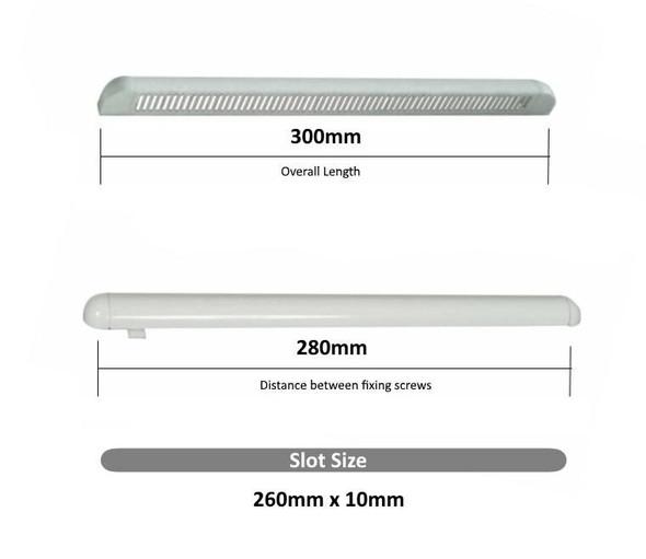 300mm Oak Tan Trickle Vents internal and external fittings
