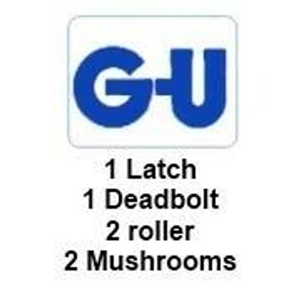 GU Multipoint 92mm Door Lock, 2 Mushrooms, 2 Rollers, 1 Latch, 1 Deadbolt