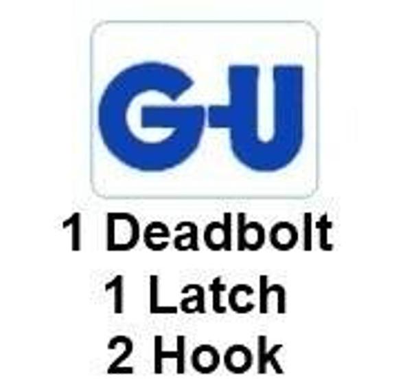 GU Europa, 1 Deadbolt, 2 Hook, Multipoint Door Lock, 35mm Backset