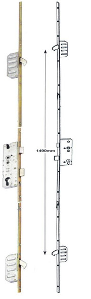 Winkhaus Cobra UPVC Door Lock, 2 Hook, Key Wind