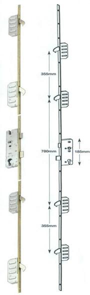 Winkhaus Cobra UPVC Door Lock, 4 Hook, Key Wind