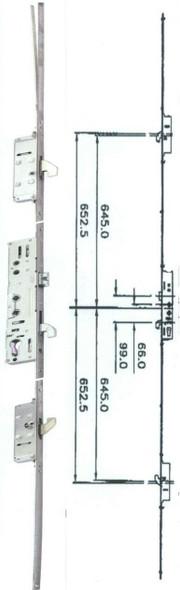 Safeware 3 UPVC Door Lock