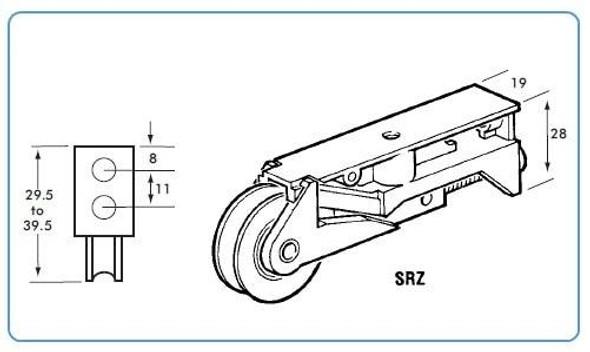 SRZ Patio Door Roller Wheels