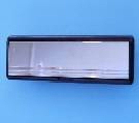 10 CHROME Letterbox with BLACK Surround, for UPVC Doors