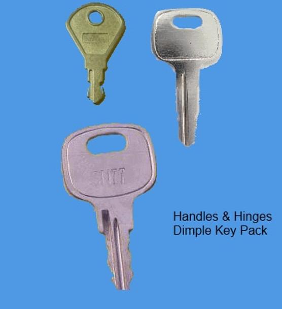 Key Pack to Suit Laird Window Handle with Dimple - EE33, EE67, EE71
