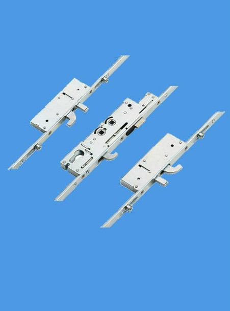 Fullex XL Latch, Central Hook, 2 Hooks, 2 Anti Lift Pins and 4 rollers, Double spindle D/S or Lift lever L/L - FUXLCOMP3H4R35