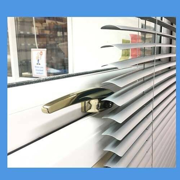 Silver / Grey Titon Compact Espag UPVC Window Handles for use with blinds