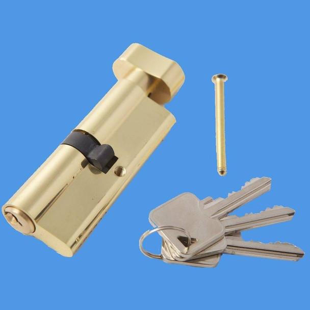 Thumbturn Euro Cylinder Door Barrel with key on one side