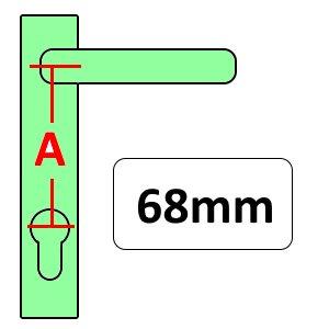 68mm UPVC Door Handles
