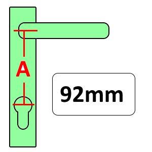 92mm UPVC Door Handles
