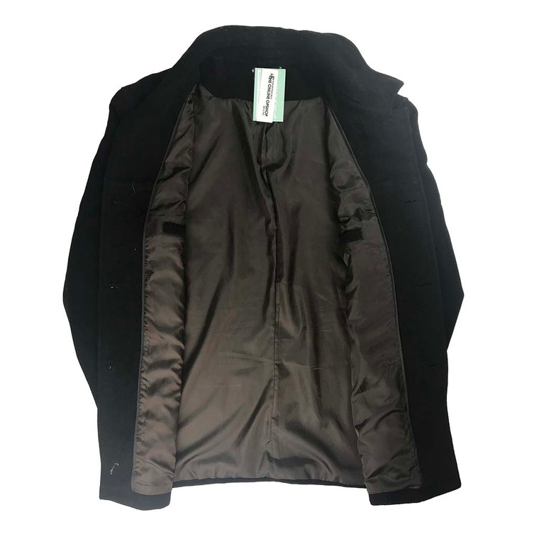 Wool Blend Button Up Overcoat