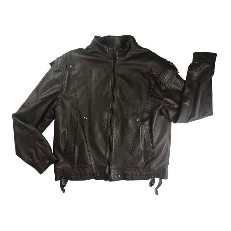 Vintage Leather V Panel Bomber Jacket #2