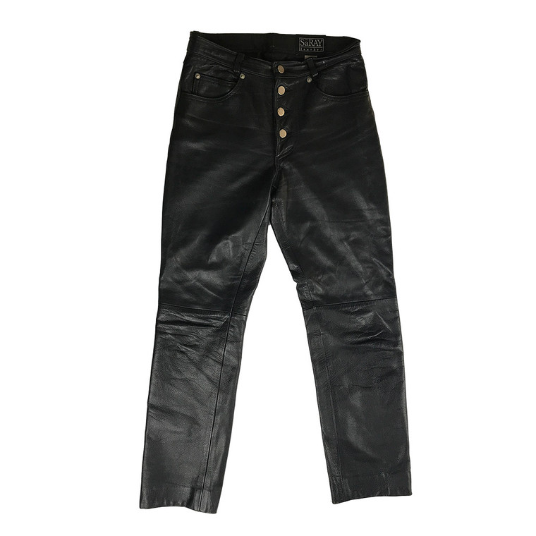 Four Button Leather Pant
