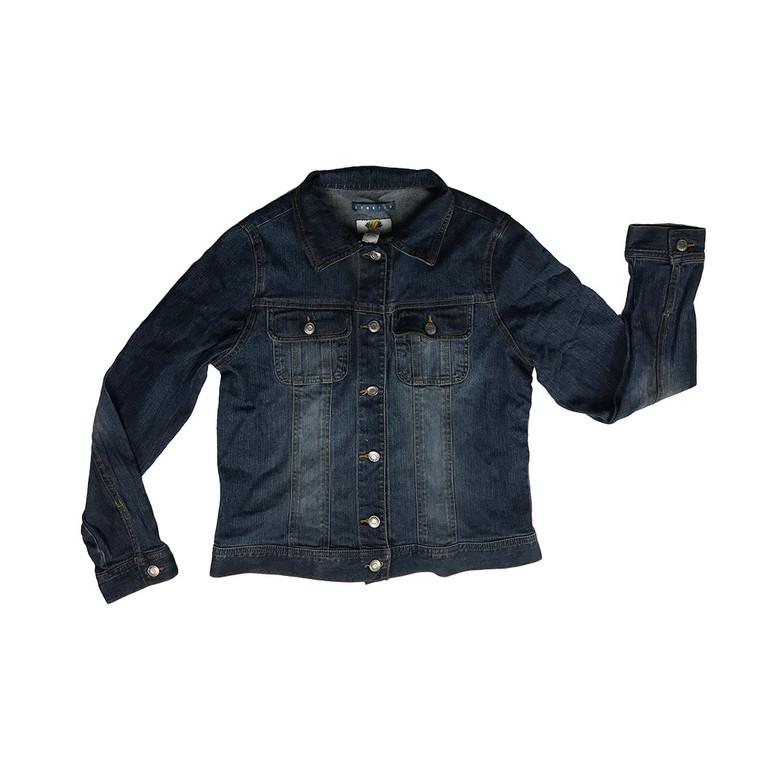 Mid Wash Stretch Denim Jacket