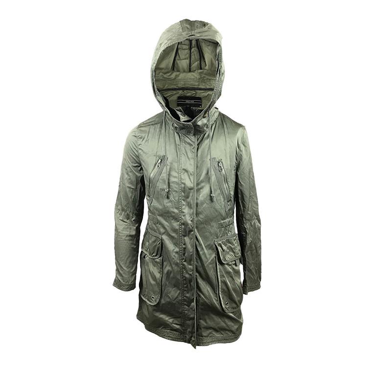 Hooded Long Sleeve Utility Jacket