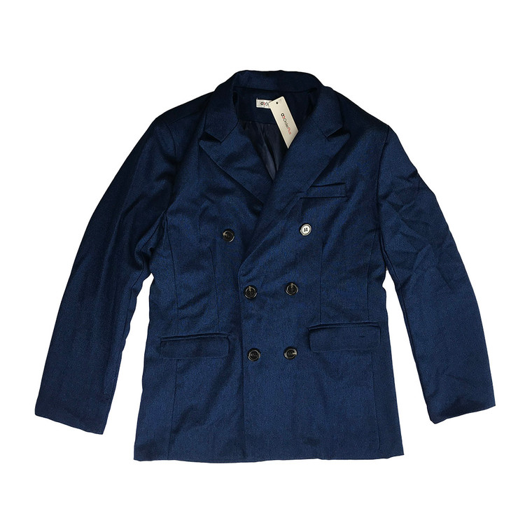 ORDER PLUS Navy Speckled Double Breasted Blazer