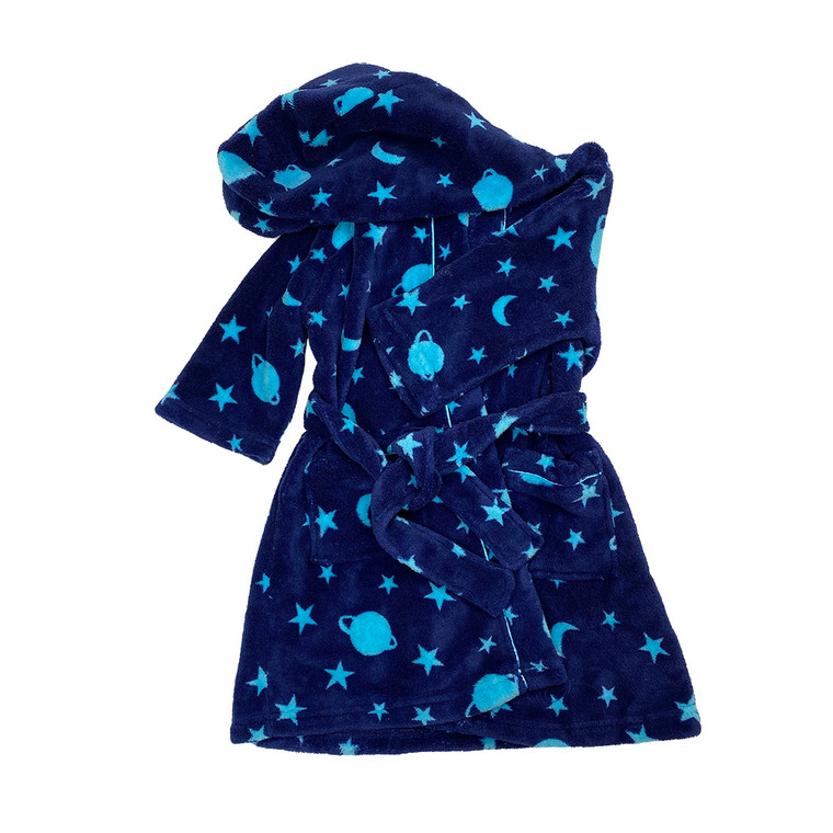 BOYS Planet and Stars Hooded Dressing Gown
