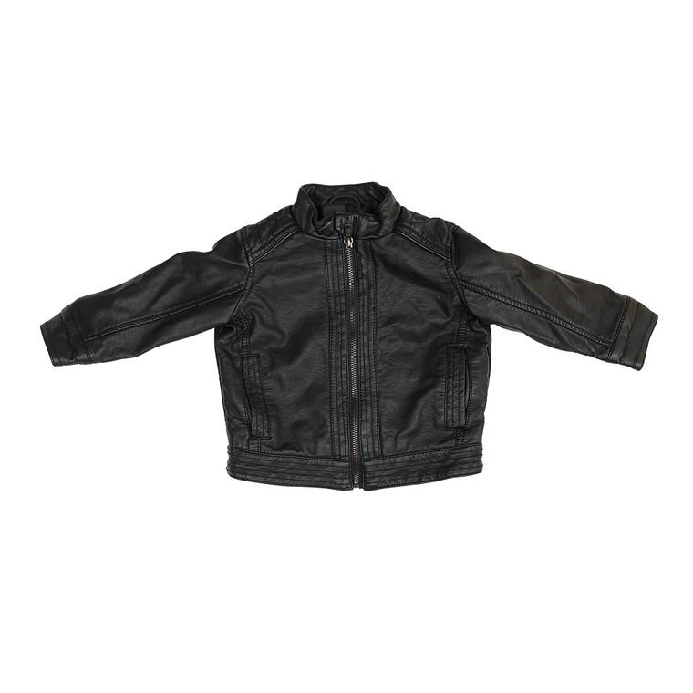 KIDS Black Leather-look Jacket.