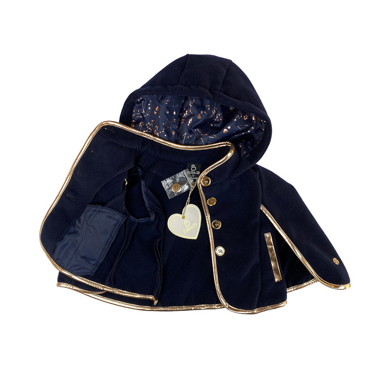 GIRLS Metallic Piped Hooded Cape
