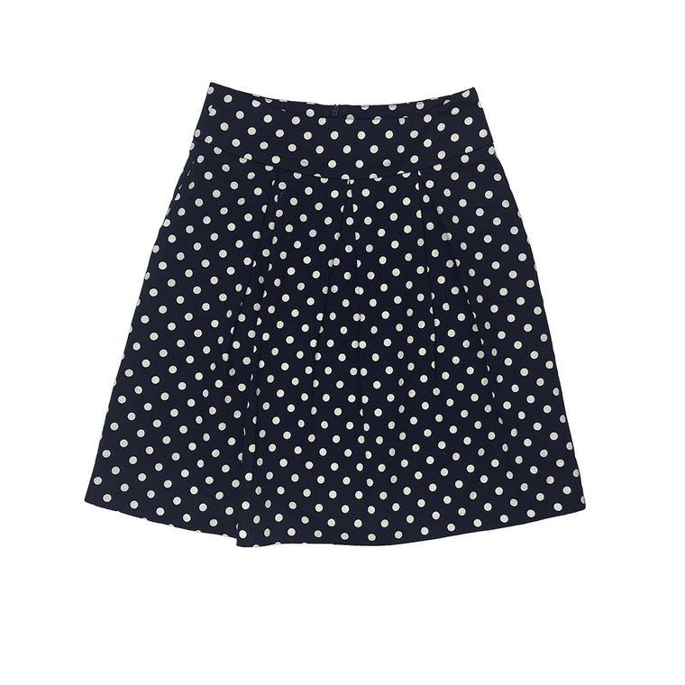 Polka Dot Pleated Mini Skirt