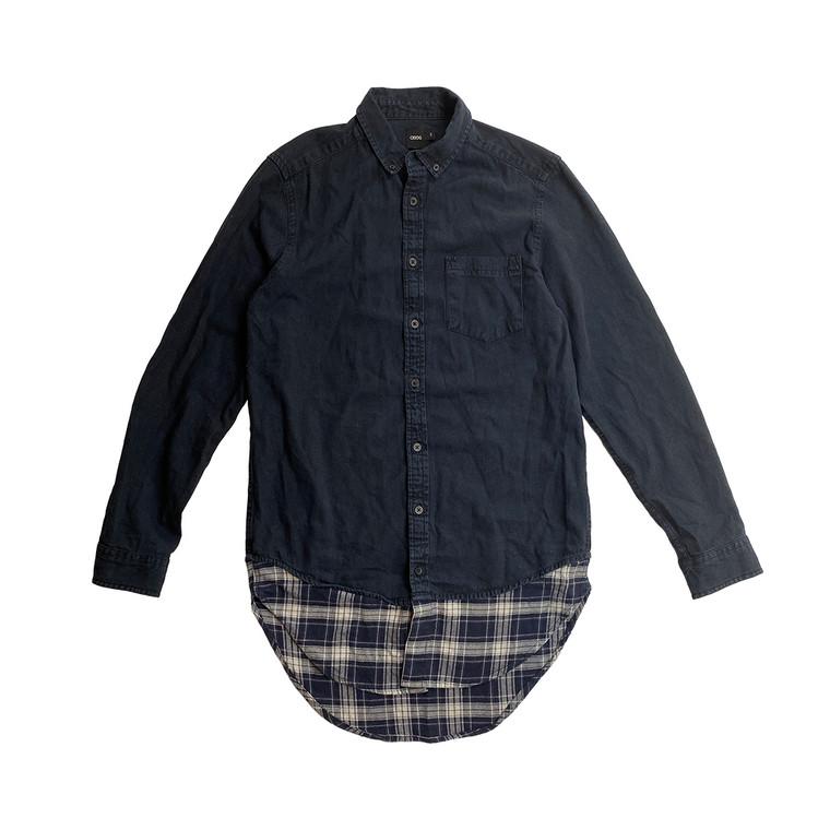 ASOS Denim shirt with plaid bottom