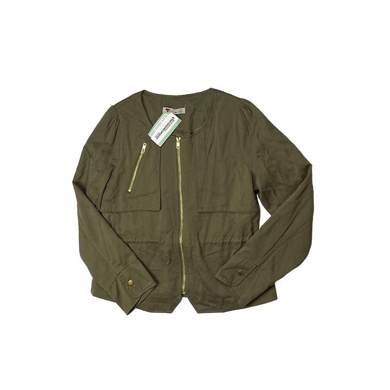 Temt Khaki Gold Detail Jacket