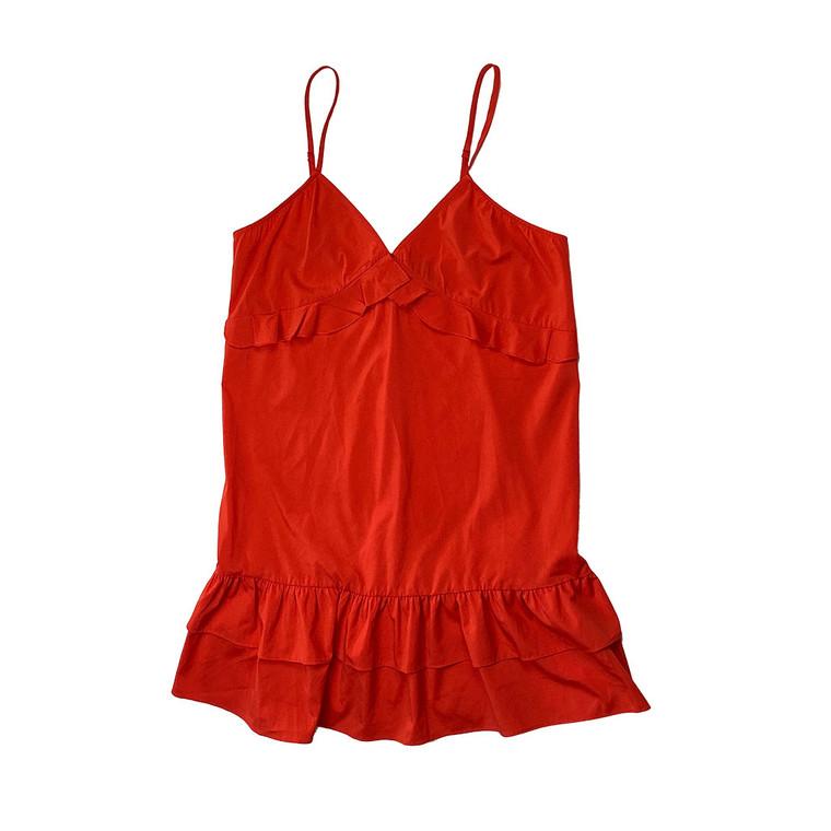 Frill Hem Strappy Shift Dress